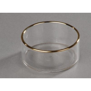 Teelichthalter mit Goldrand 40 mm Durchmesser