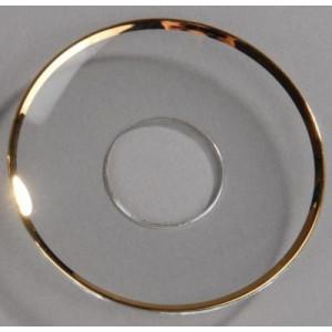 Glasmanschette mit Goldrand für Spitzkerzen