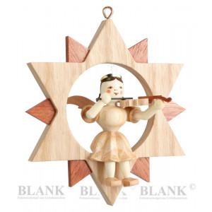 Engel sitzend mit Violine im Stern