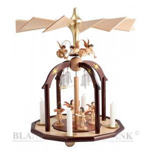 Pyramide mit 7 Engel und Glasglöckchen