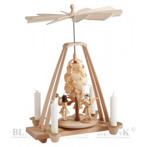 Pyramide mit Spanbaum und 3 Engel
