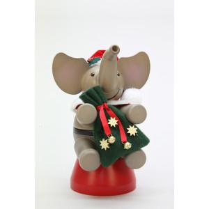 Räuchermännchen Elefant Weihnachtsmann