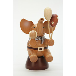 Räuchermännchen Elefant mit Spielzeug natur