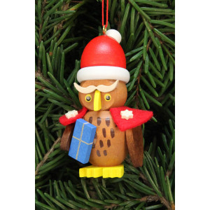 Baumbehang Eule Weihnachtsmann