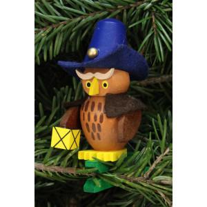 Baumbehang Eule Nachtwächter auf Klammer