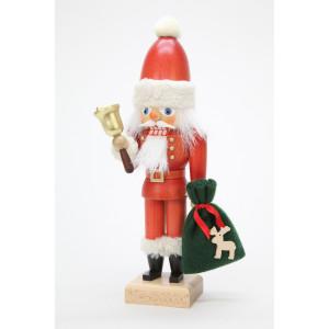 Nussknacker Weihnachtsmann mit Glocke