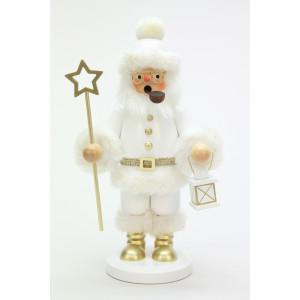 Räuchermännchen Weihnachtsmann weiß, groß