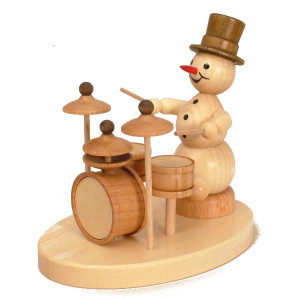 Schneemannmusikant Schlagzeug
