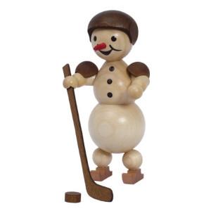Schneemann Eishockeyspieler stehend Helm