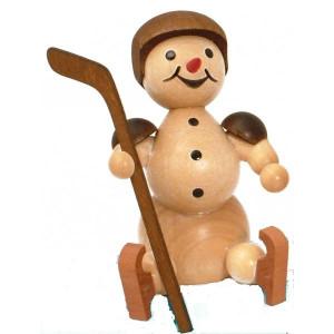 Schneemann Eishockeyspieler Auswechsler Helm