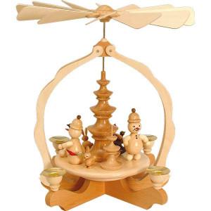 Pyramide klein Junior mit Tieren 4 Kerzen