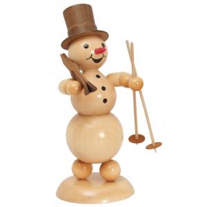 Schneemann Ski auf Schulter, groß
