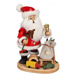 Räucherwichtel Weihnachtsmann mit Steckenpferd