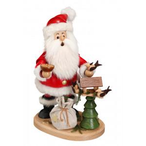 Räucherwichtel Weihnachtsmann mit Vogelhaus