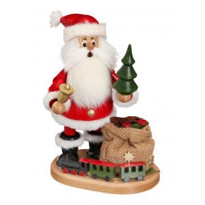 Räucherwichtel Weihnachtsmann mit Eisenbahn