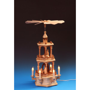 Pyramide 2-stöckig Christi Geburt, elektrisch