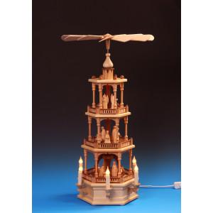 Pyramide 3-stöckig Christi Geburt, elektrisch