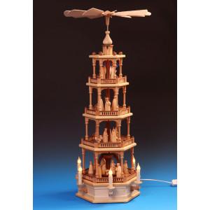 Pyramide 4-stöckig Christi Geburt, elektrisch