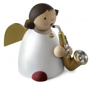 Schutzengel mit Saxophon, gold, groß