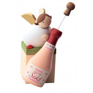 Schutzengel mit Sektflasche