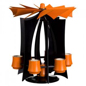 Schwebepyramide VERSO - Anthrazit/Orange