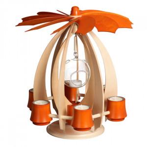 Schwebepyramide NOVA - Ahorn/Orange
