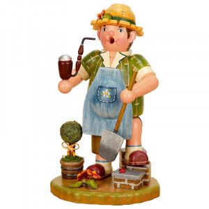 Räuchermann Gärtner mit Spaten