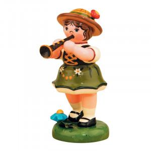 Musikkind Mädchen mit Klarinette
