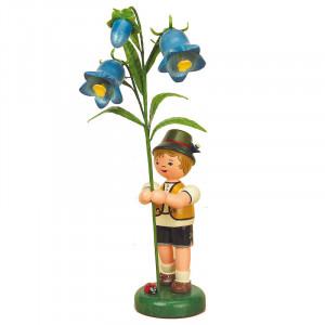 Blumenkind Junge mit Fingerhut