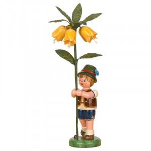 Blumenkind Junge mit Kaiserkrone