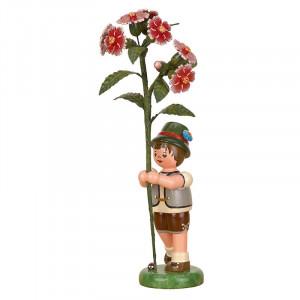 Blumenkind Junge mit Buschnelke