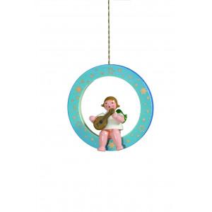 Engel mit Mandoline im blauen Ring