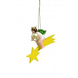 Engel mit russischem Horn auf Sternschnuppe