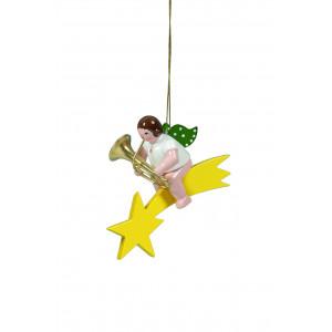 Engel mit Tuba auf Sternschnuppe