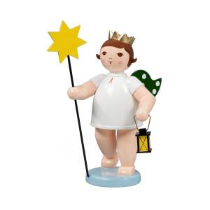Engel mit Stern und Lampe, 22 cm