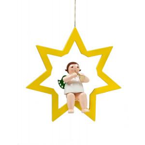 Engel im Stern mit Trompete, 38 cm