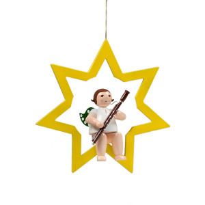 Engel im Stern mit Fagott, 38 cm