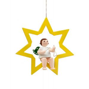 Engel im Stern mit Triangel, 38 cm