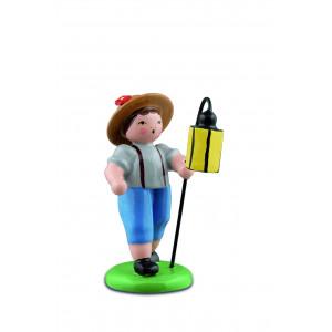 Junge mit langen Lampion