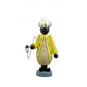Räuchermann Mohr, gelb