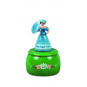 Spieldose Rokokofrau