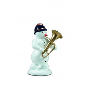 Schneemann mit Tuba