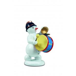 Schneemann mit großer Trommel und Becken
