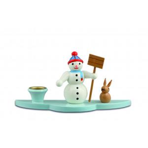 Kerzenhalter Schneemann mit Schippe