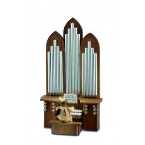 Orgel mit Engel mit Spielwerk natur