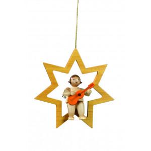 Engel im Stern ohne Triangel Naturfarbe