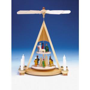 Pyramide mit Geburt, bunt, 2-stöckig