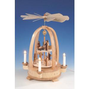 Pyramide Christi Geburt, natur, 2-stöckig