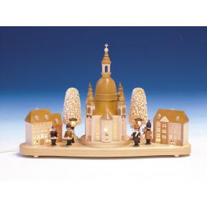 Lichterhaus Frauenkirche mit Innenbeleuchtung