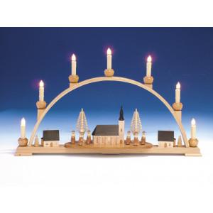 Schwibbogen Schneeberger Kirche und Innenbeleuchtung